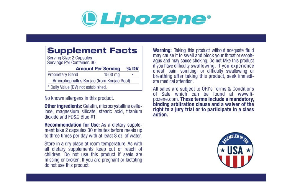 Lipozene Weight Loss Pills 2x30 Count Bottles with 30 Count MetaboUp Plus by Lipozene (Image #4)