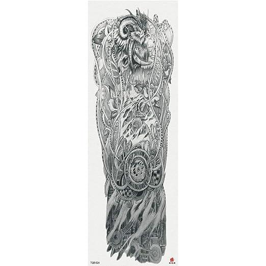 Nuevas Pegatinas de Tatuaje de Brazo Completo Pegatinas de Tatuaje ...