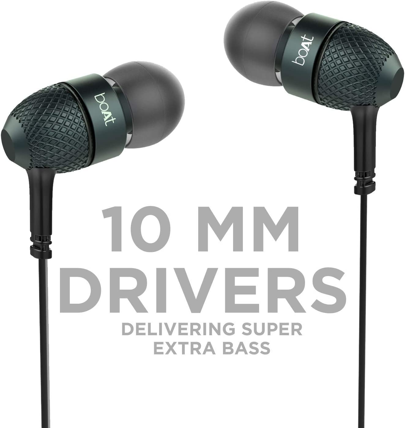 Amazon Com Boat Bassheads 225 In Ear Super Extra Bass Headphones With One Button Mic