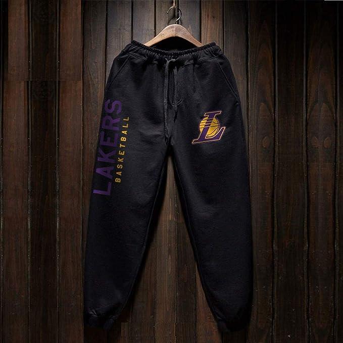 HEJX Lakers James Warriors Curry Pantalones de Baloncesto ...