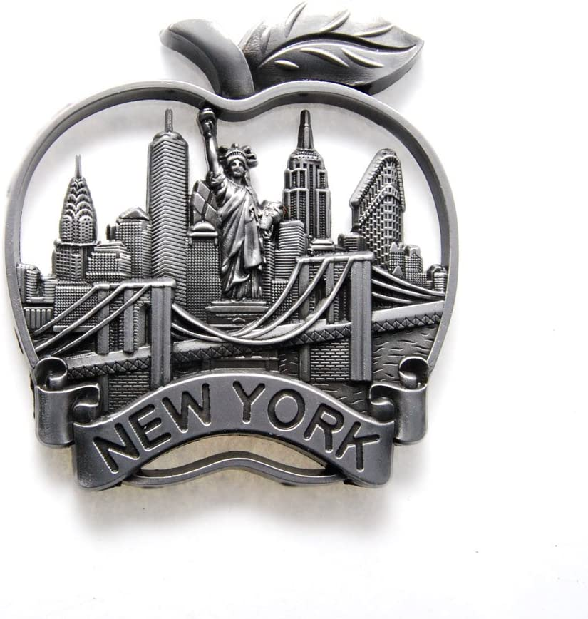 Big Apple, Statue of Liberty, Empire State Building New York Souvenir Fridge NY Magnet - Big Apple, NYC Texi, Statue of Liberty, Empire State Building NYC Magnet (Pack 1)