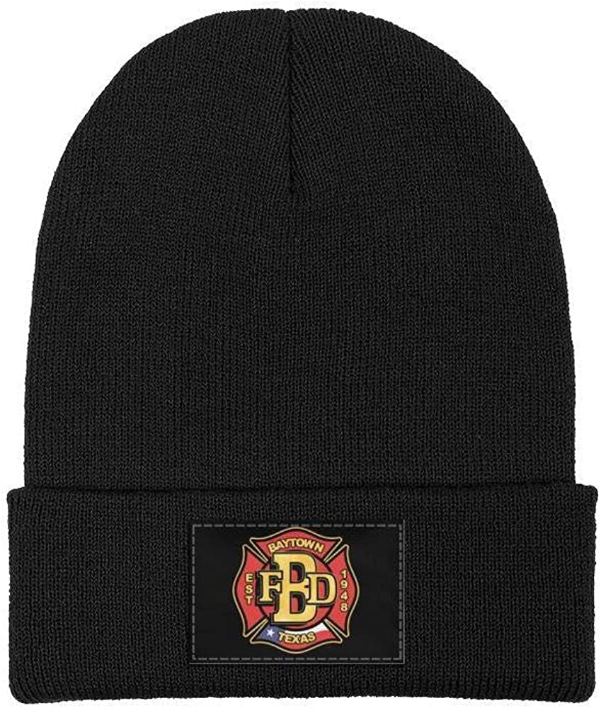 DXQIANG Baytown-Fire-Department Men Women Winter Beanies Hat Warm Skull Knit Cap