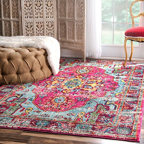 Oriental Vintage Distressed Abstract Area Rug by nuLOOM
