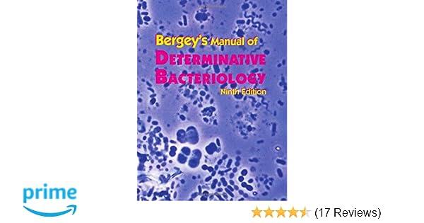 Bergeys manual of determinative bacteriology john g holt phd bergeys manual of determinative bacteriology john g holt phd 9780683006032 amazon books fandeluxe Gallery