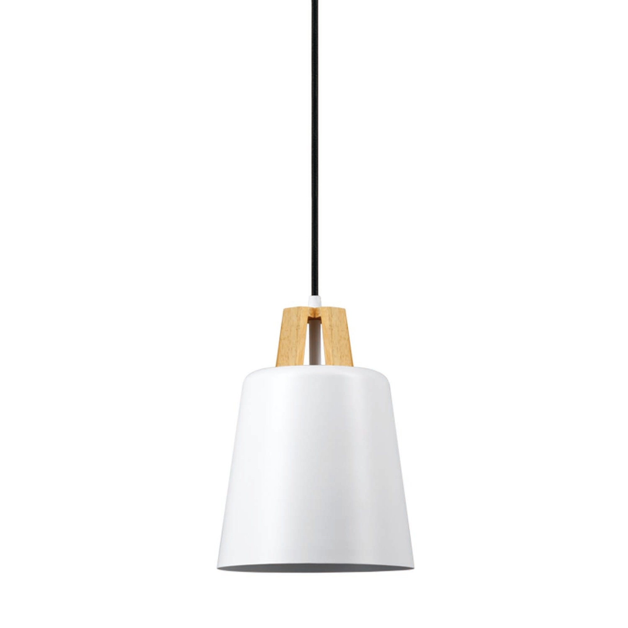 Globe Electric Jeor 1-Light Pendant, White Finish, Faux Wood Accent, 65431 by Globe Electric (Image #3)