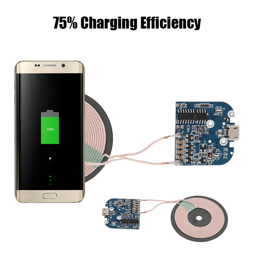 Bewinner Universal Qi Wireless Charger Transmitter Module - 75% Charging Efficiency - Suitable for All Qi Standard Phones - Multi-Level Protection - DIY Wireless Charger Parts by Bewinner (Image #6)