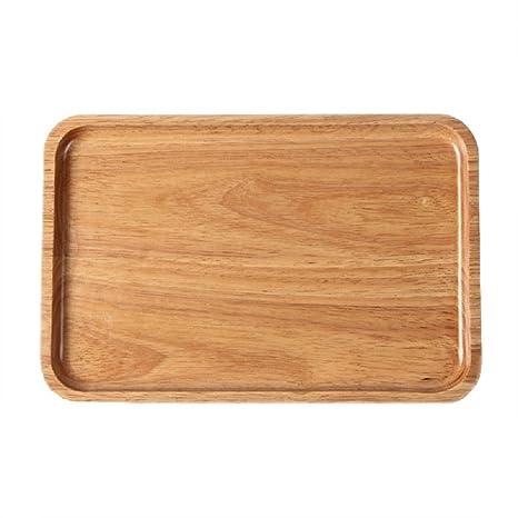 FEAL Solid Rubber Wood TrayTea Tray Dessert PlatesPizza PlatesFruit  sc 1 st  Amazon.com & Amazon.com | FEAL Solid Rubber Wood Tray Tea Tray Dessert Plates ...