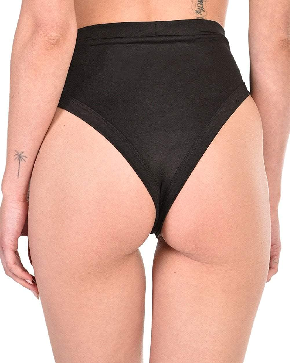iHeartRaves Side Tie High Waisted Lace up Rave Dance Booty Shorts Black