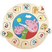 Eichhorn Peppa Pig - Puzzle e orologio di legno (Simba 7216)