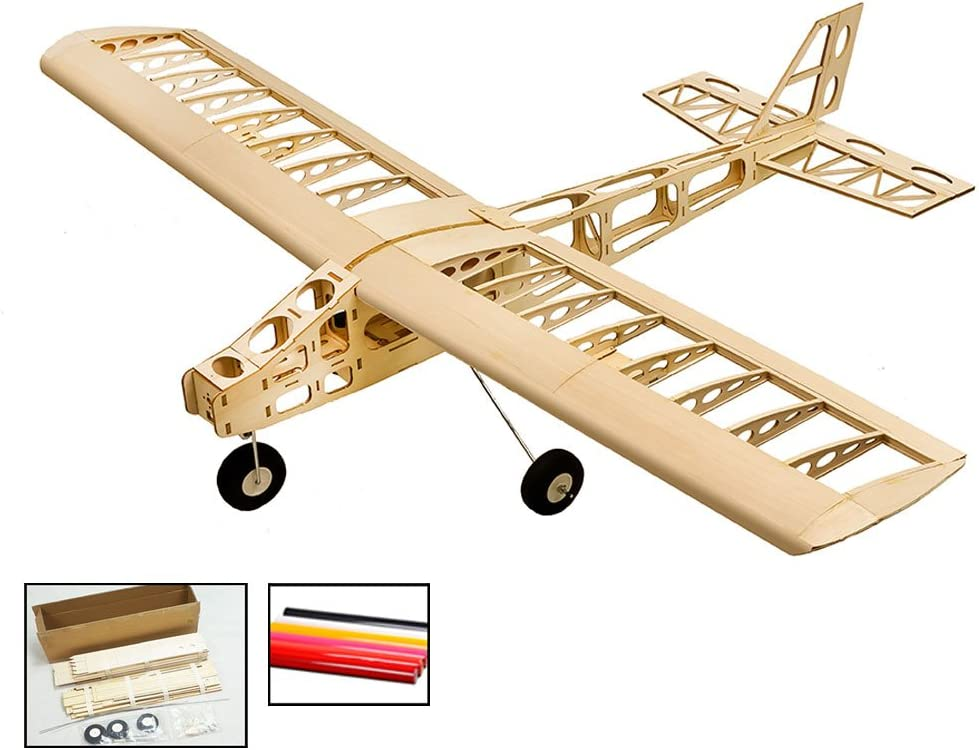 T25 Balsawood Airplane Building Kit Cloud Dancer 1300mm Wingspan Need to Built Airplane Basswood 4CH Radio Controlled Laser-Cutting Aeroplane KIT Un-Assembled Flying Model T2504