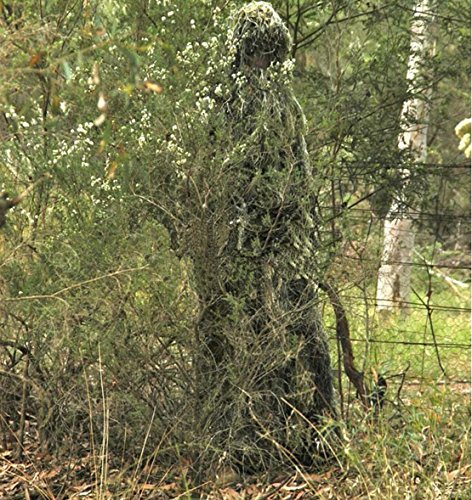 Ghillie Suit, LOOGU Camo Suit Woodland and Forest Design Military Leaf Hunting and Shooting Accessories Tactical Camouflage Clothing Blind for Airsoft, Wildlife Photography Halloween or Party by Ghillie Suits (Image #5)