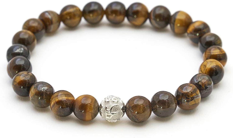 BERGERLIN Pulsera de Perlas autenticas de Piedra Natural y Perla de Plata eterlina 925