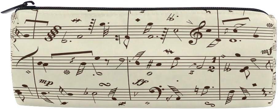 Estuche de lápices Vinlin, diseño retro con partituras de música, portátil, multifuncional, con cremallera, para la escuela y la oficina: Amazon.es: Oficina y papelería