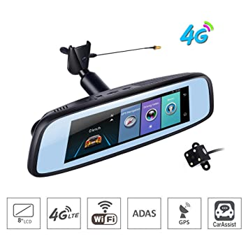 "Coche DVR cámara 7,84""4G Touch IPS Smart Android retrovisor GPS Bluetooth WIFI"