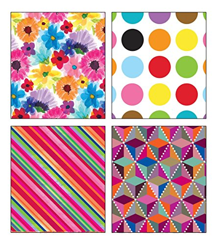 Premium Birthday or All Occasion Shapes and Flower Gift Wrap