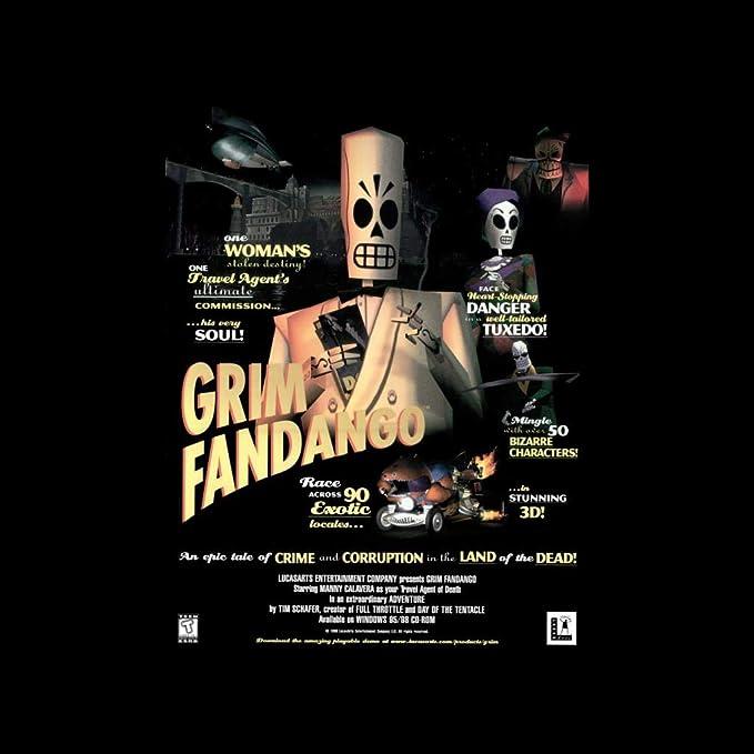 Cloud City 7 Grim Fandango Cover Womens T-Shirt: Amazon.es: Ropa y accesorios