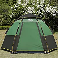 Hewolf Waterproof Family Camping Tent Easy Set up Instant...