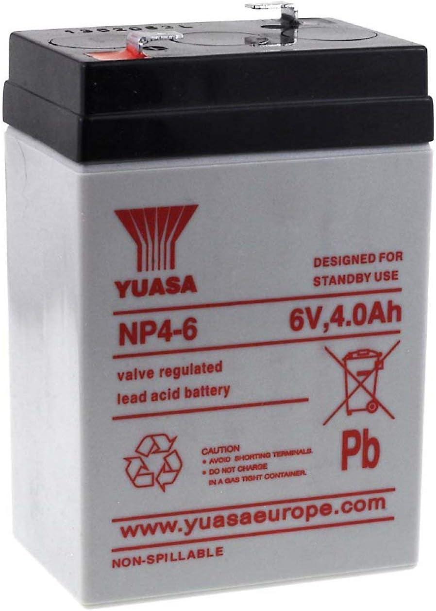 YUASA Batería de Plomo-ácido NP4-6