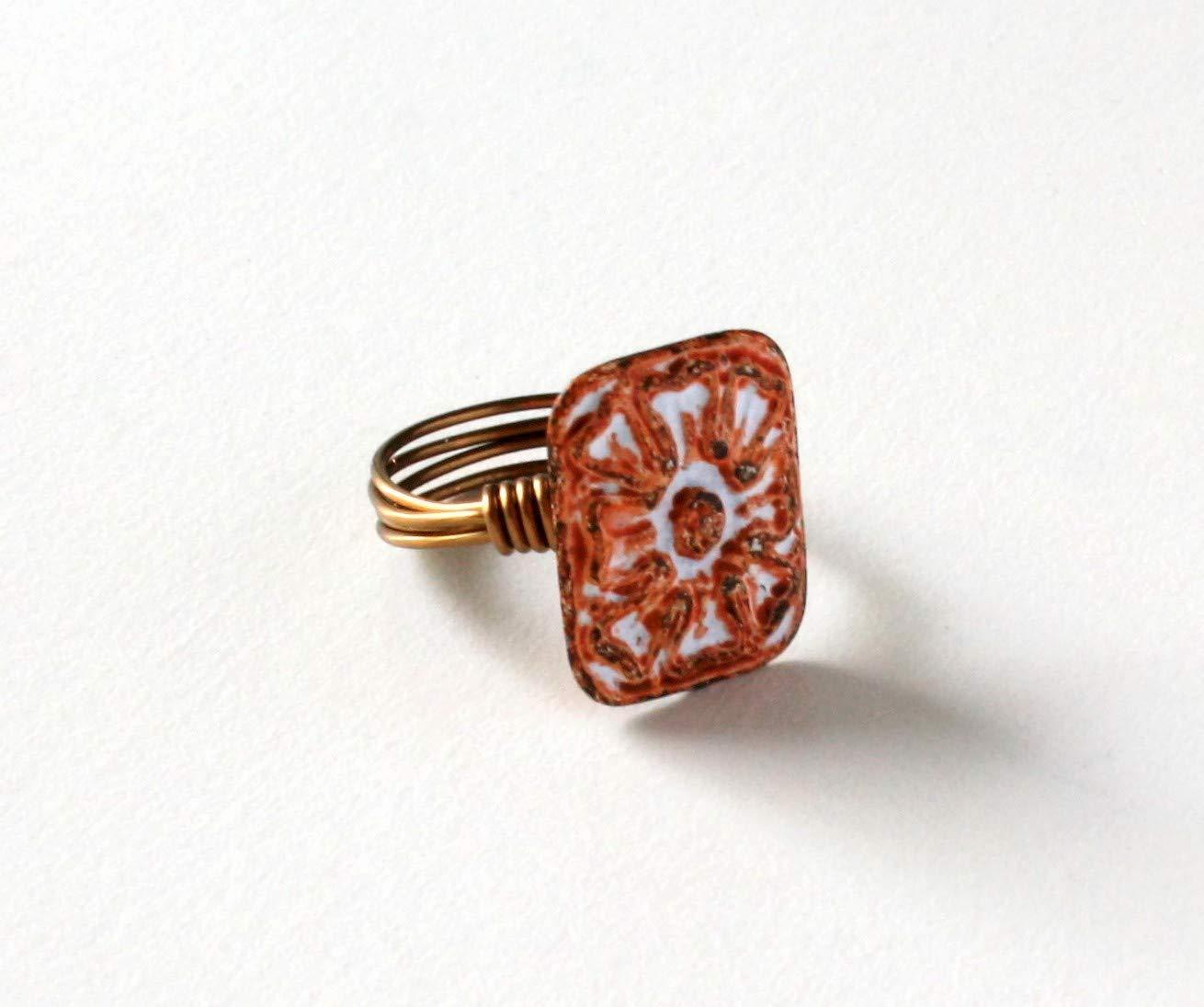 Orange Wire Ring
