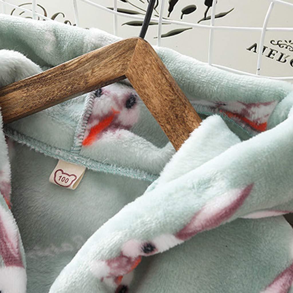 Lingery Baby Bathrobe,Toddler Kids Boy Girl Cartoon Hooded Flannel Bathrobe Towel Night-Gown Sleepwear