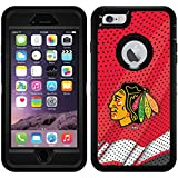 Chicago Blackhawks - Home Jersey design on Black OtterBox Defender Series Case for iPhone 6 Plus and iPhone 6s Plus