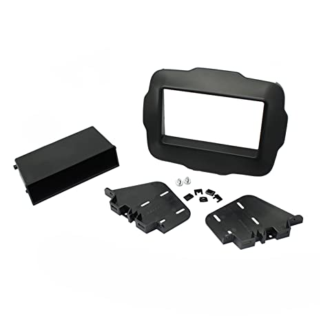 amazon com: scosche cr1300b 2015-up jeep renegade double din & din with  pocket kit: car electronics