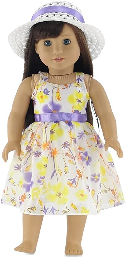 18 inch doll party dress for Easter.