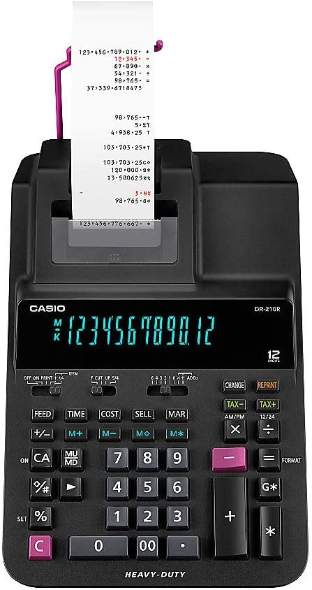 Casio Calculator Ribbons DR120S Casio DR120S Ink Ribbons 3 Pack