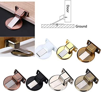 Floor Door Stopper 304 Stainless Steel Precision Casting Invisible Suction Anti-Collision Door Stop Strong Magnetic Door Touch Door Suction Without Perforating Suction