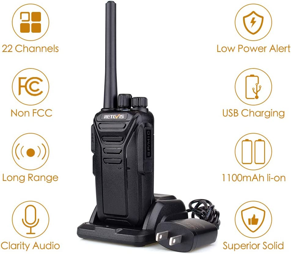 Retevis RT27 Walkie Talkies Rechargeable 2 Way Radios with Earpiece Covert Air Acoustic 3 Pack