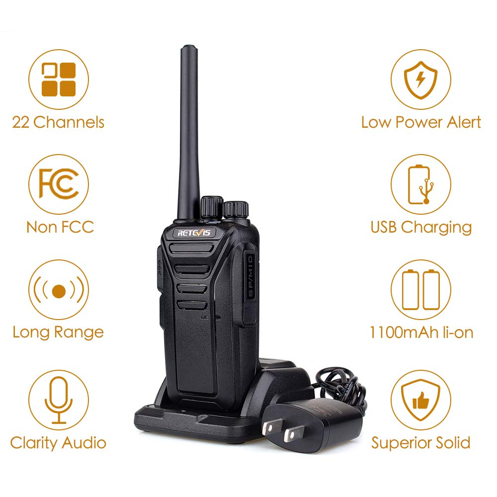 3 Pack Retevis RT27 Walkie Talkies Rechargeable 2 Way Radios with Earpiece Covert Air Acoustic
