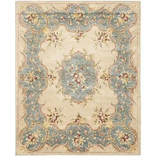 Safavieh Bergama Collection BRG166A Handmade Ivory and Light Blue Premium Wool Area Rug (8' x 10')