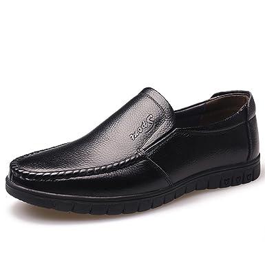 GRRONG Chaussures En Cuir Pour Homme Moyen-âge De Loisirs En Cuir Véritable  Noir: Amazon.fr: Vêtements et accessoires