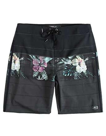 f1c2bed32a O'Neill Men's Water Resistant Superfreak Stretch Swim Boardshorts, 20 Inch  Outseam (Black