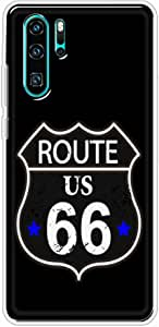 Okteq Clear TPU Protection and Hybrid Rigid Clear Back Cover Case Printed Compatible with Huawei P30 pro- route 66 By Okteq