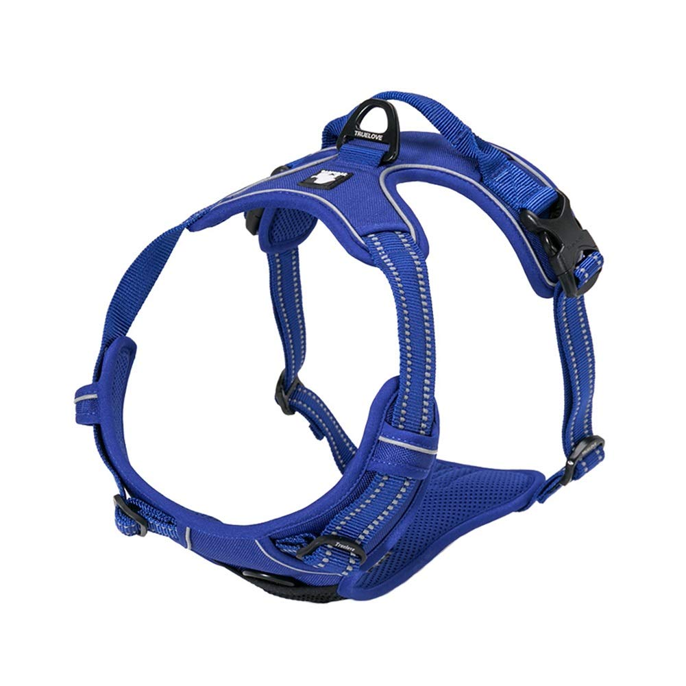 bluee S bluee S Dog Vest Harness, Pet Chest Strap Reflective Strip Traction Adjustable Cat Supplies Buffering Comfortable Breathable for Teddy Small Medium Harness (color   bluee, Size   S)