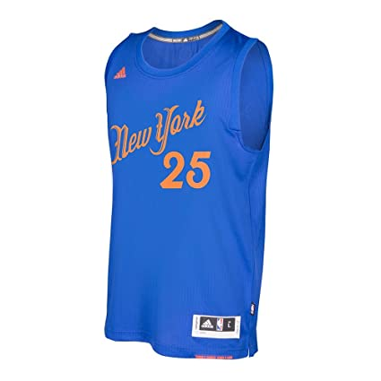 Derrick Rose New York Knicks NBA Adidas Men s Blue 2016 Christmas Day  Swingman Climacool Jersey ( e103b32d5