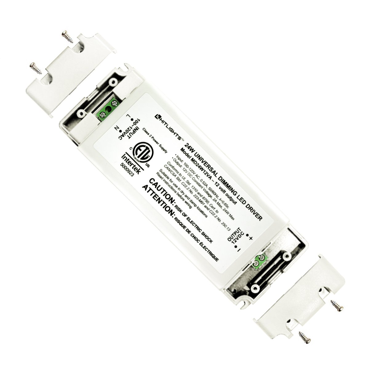 HitLights 24 Watt Dimmable Driver, Universal, for LED Light Strips - 110V AC-12V DC Transformer. Compatible with Lutron and Leviton by HitLights (Image #2)