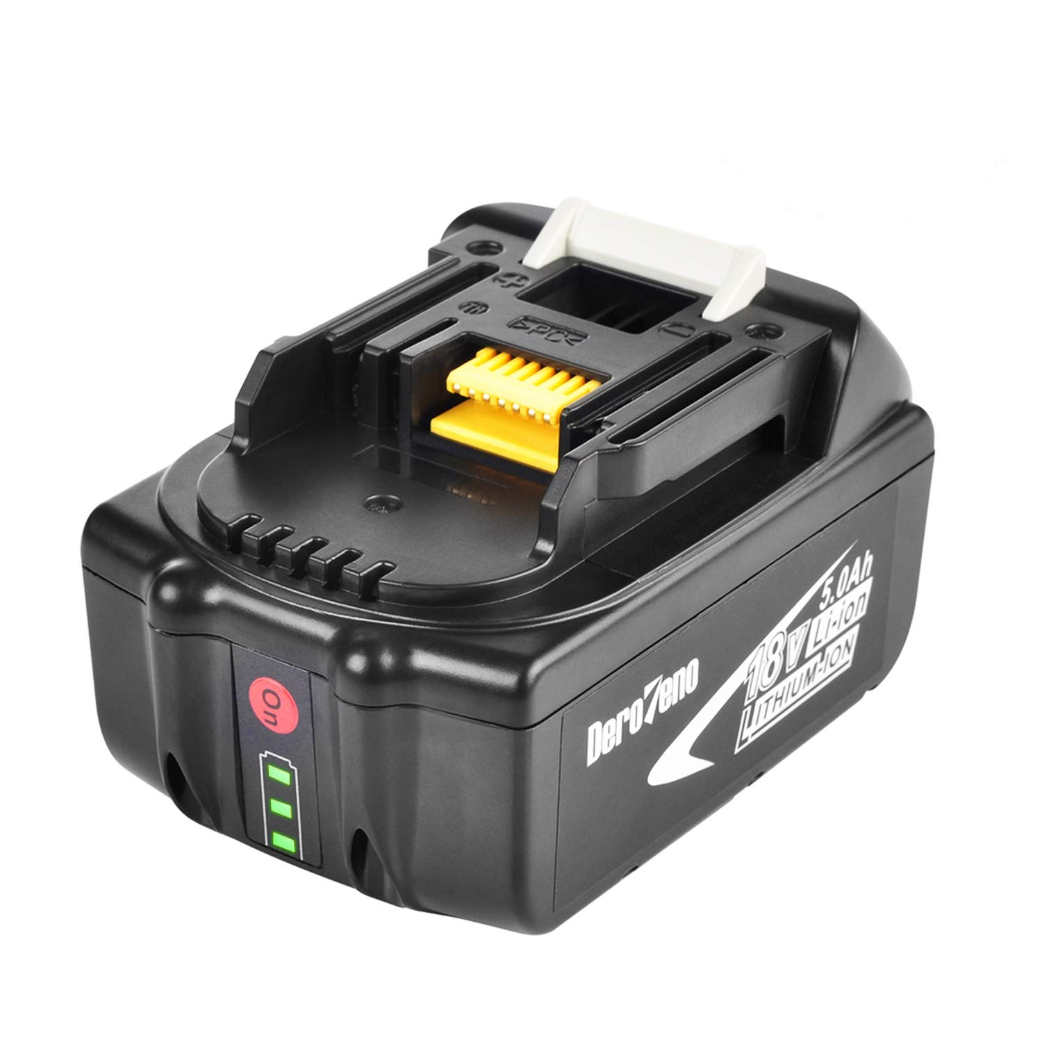 DeroTeno 18V 5.0AH LXT Lithium-Ion Replacement Battery with LED Charge Indicator for Makita BL1850 BL1840 BL1830 LXT-400 194204-5 Cordless Power Tools