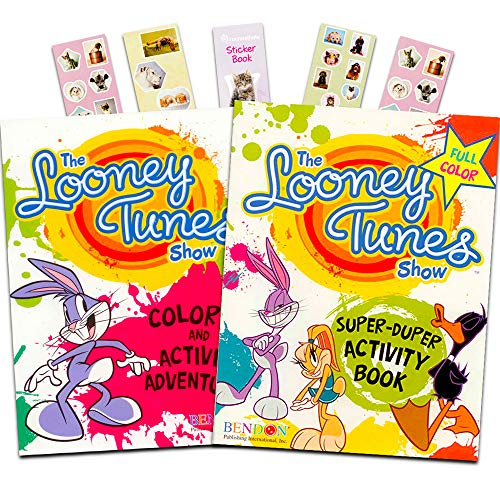 Looney Tunes Coloring and Activity Book Bundle with 2 Looney Tunes Books and Stickers (Over 140 Pages Total)