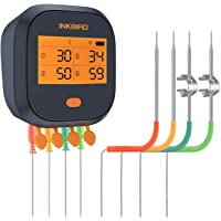 Inkbird WiFi Meat Thermometer IBBQ-4T Rechargeable BBQ Grill Magnetic