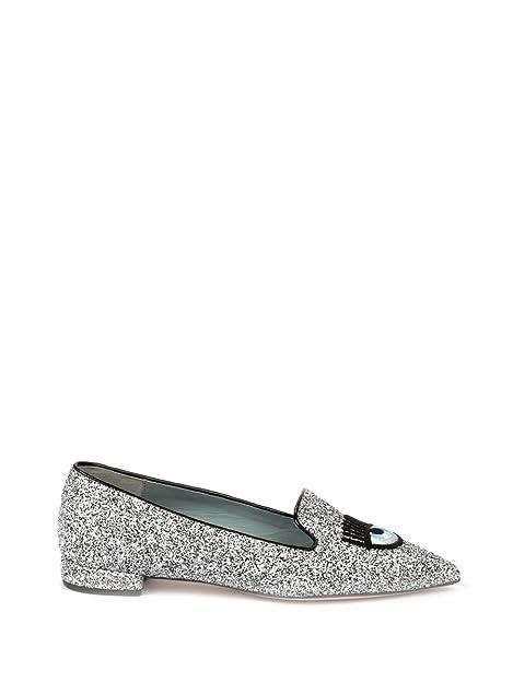 Chiara Ferragni - Mocasines para Mujer Plateado Plata IT - Marke Größe, Color Plateado, Talla 39 IT - Marke Größe 39: Amazon.es: Zapatos y complementos