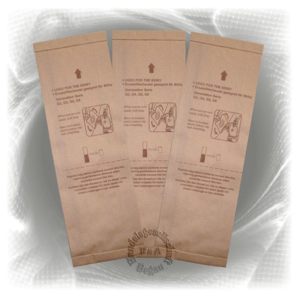 Bolsas - 3 pack - para aspiradoras Kirby G3 G4 G5 G6 G7 G8 G10 Handelsgesellschaft Begau
