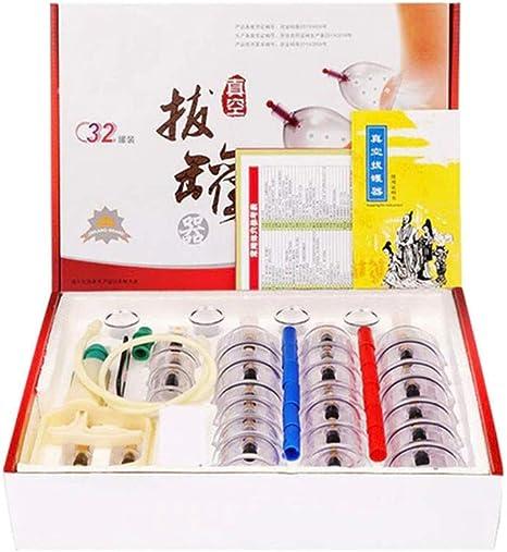GEHHI Set Ventosa Cupping Terapia Chinas, 32 Vasos de Aire ...