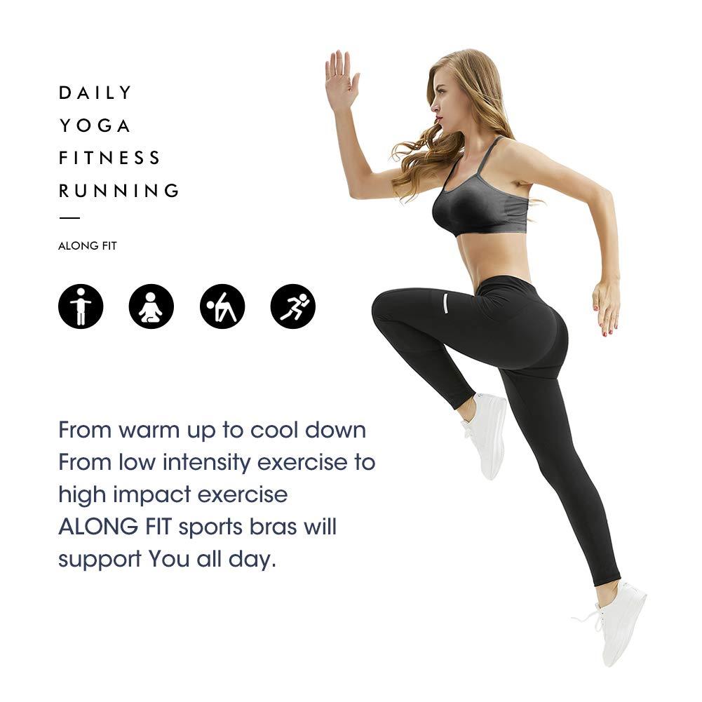 Amazon.com: Along Fit - Sujetador deportivo para mujer ...