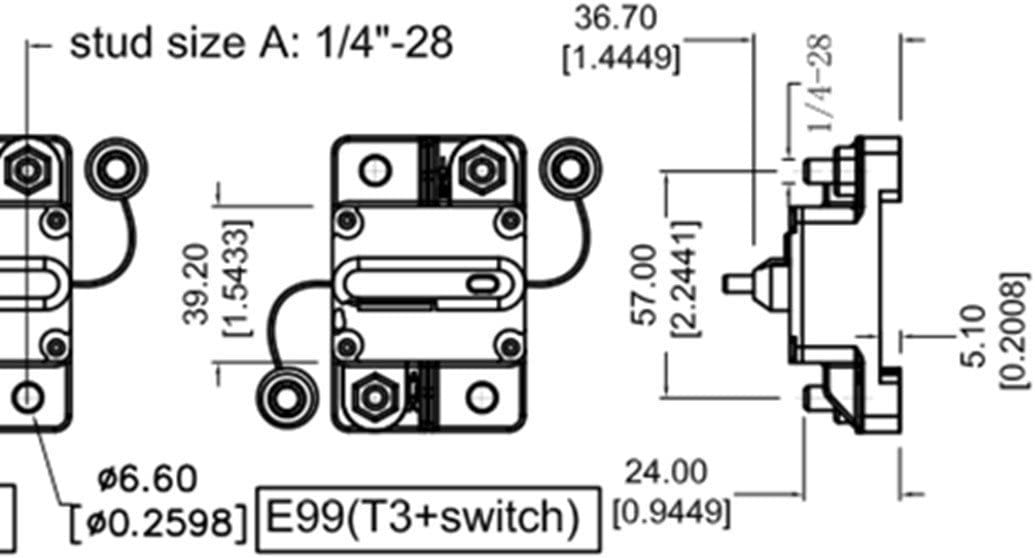 [SCHEMATICS_4CA]  Amazon.com: ZOOKOTO 60 Amp Circuit Breaker, Marine Trolling Motors Boat ATV  Manual Power Fuse Rest, Waterproof (60A) 12V-48VDC: Automotive | Wiring 24 36 Volt Switchable Trolling Motor Diagram |  | Amazon.com