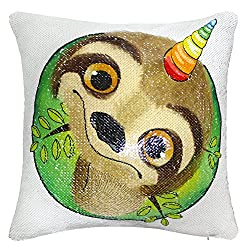 Unicorn Sequin Pillow Cover