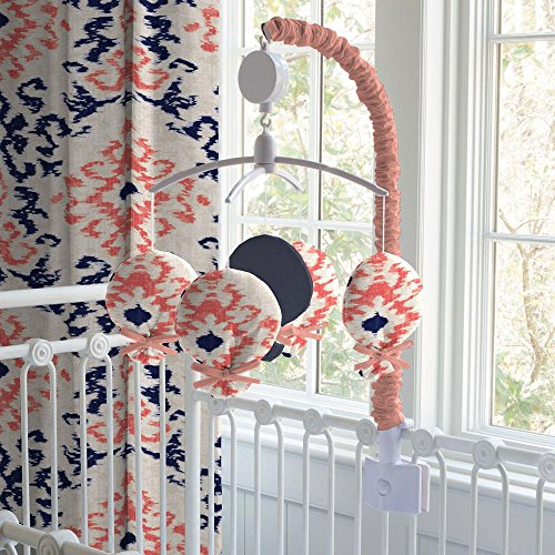 Carousel Designs Navy and Coral Ikat Mobile by Carousel Designs