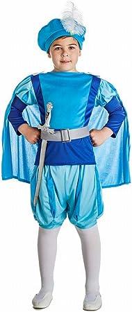 disfraz principe color azul talla 5-6 años tamaño infantil