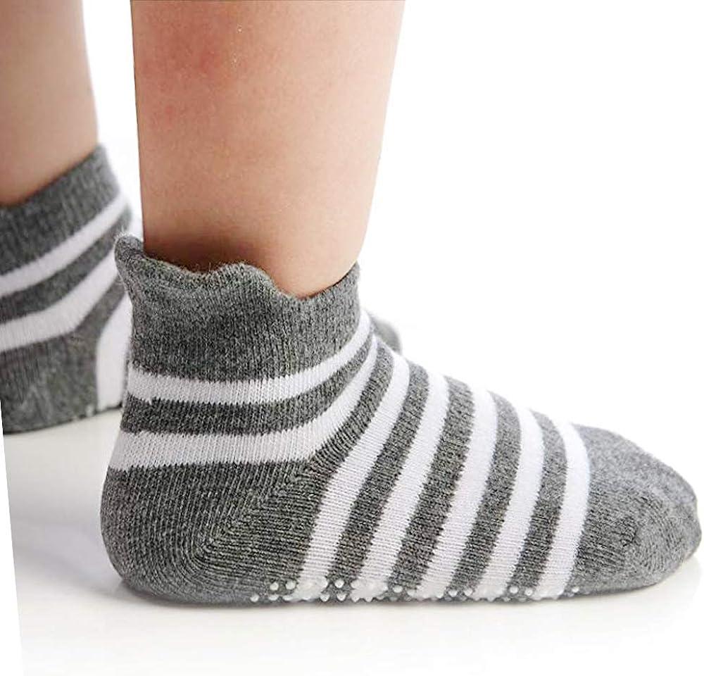 per bambini da 1 a 3 anni o 3 a 5 anni HYCLES 12 paia di calzini antiscivolo per bambini da 12 a 36 mesi